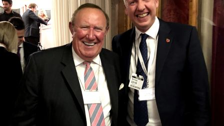 Kingsfleet Wealth managing director Colin Low meets journalist and broadcaster Andrew Neil at the Ho