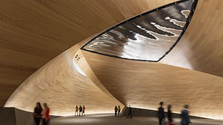 The Bloomberg headquarters in London. The Vortex feature, created by TMJ Interiors of Suffolk, has b