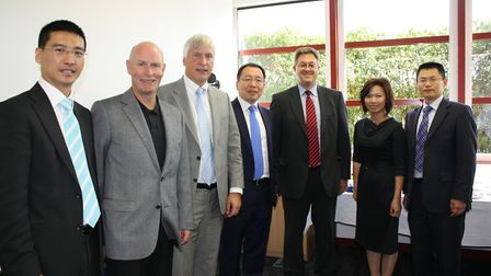 Pic from 2010 of a Chinese visit to BT. LtoR Jason Chen, Director Technology Solutions, Huawei BT Di