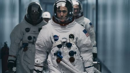 Ryan Gosling as Neil Armstrong, the first man on the moon and a man haunted by personal tragedy, in