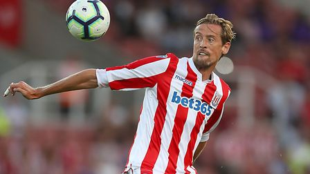 Peter Crouch is a regular substitute for Stoke City. Picture: PA