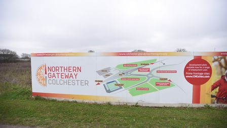 The Northern Gateway will be built beyond the north of the A12, close to Colchester United's stadium