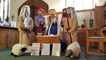The nativity scene includes a Mary and Joseph along with the wise men and some shepherds Picture: RA