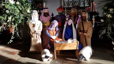 The nativity scene includes a Mary and Joseph along with the wise men and some shepherds Picture: R