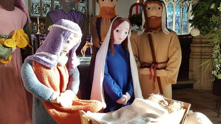 The nativity scene includes a Mary and Joseph along with the wise men and some shepherds Picture: