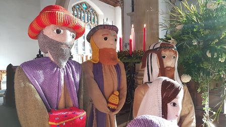 A team of keen knitters from the town have taken on the festive challenge for the past two years Pic