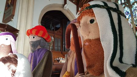The knit-ivity scene will be on display in the church over the festive period Picture: RACHEL EDGE