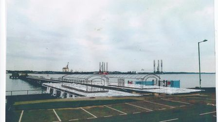 Some shareholders claim alternative drawings, which have been 'ghosted' over Shotley Pier to give an