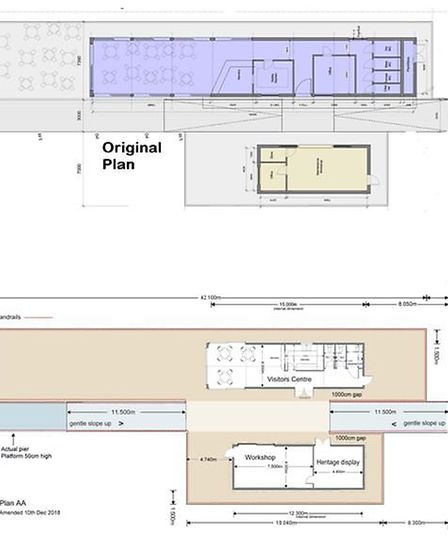 The larger original plan has been scaled down, with a large reduction in the volume of seating avail