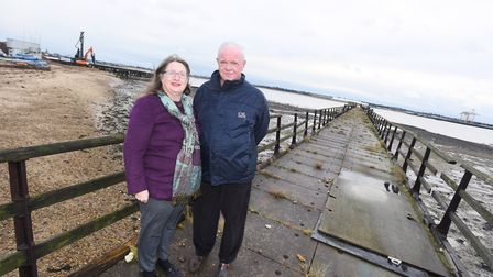 Sally Chicken and John Davitt from the Shotley Heritage Charitable Benefit Society Picture: GREGG BR