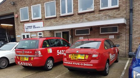 Hawaii Five O taxis outside their base on Port Lane in Colchester. Picture: David Hill