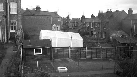 The police tent outside the children's Worcester home Picture: PA WIRE