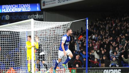 Daryl Murphy celebrates his late winner against Huddersfield on this day in