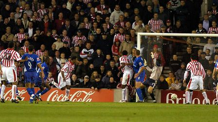 Stoke make it 2-2 as they came from behind twice at home in 2004