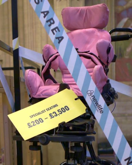 An example of a specialist chair for disabled children costing up to £3,500 Picture: NEW LIFE