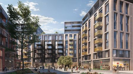 A cgi of the �300m Anglia Square development, Norwich, which is being proposed by Essex-based builde