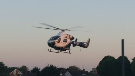 An air ambulance was called to the Howard Estate in Bury St Edmunds Bury Picture: PAUL DAY