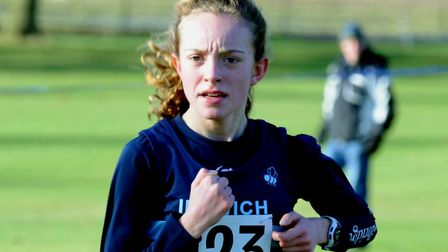 Amy Goddard, who won the junior girls' title at the Suffolk Schools Series B Championships.