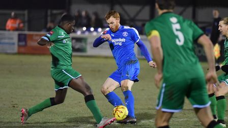 Patrick Brothers is fully fit again for Leiston. Picture: JAMES BASS