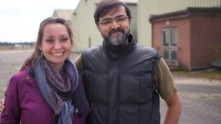 Husband and wife film producers Lucinda and Jeet Thakrar at Bentwaters Parks. Picture: TOM POTTER