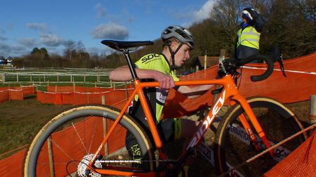 Charlie Johnson was top Suffolk finisher in the U16s at Trinity Park. Picture: FERGUS MUIR