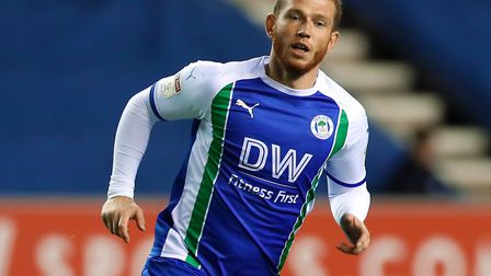 Joe Garner left Ipswich Town for Wigan in the summer. Picture: PA