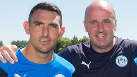 Gary Roberts and Alex Bruce signed new one-year deals at Wigan in the summer. Picture: WIGAN ATHLETI