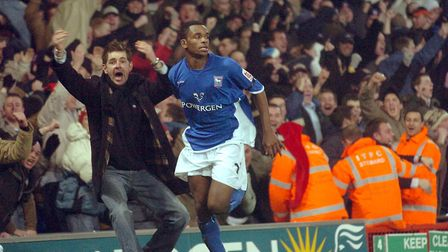 Darren Bent's late goal put the Blues top of the Championship in December 2004