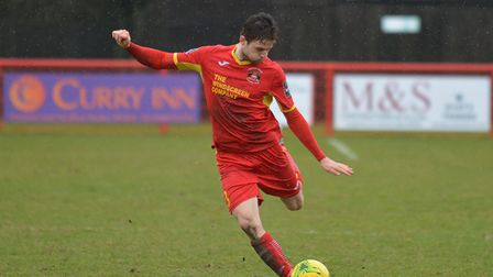 Callum Sturgess, who faces a late fitness test on a sore ankle ahead of today's FA Trophy match at W