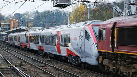 The new Stadler trains have had to be towed to Norwich but they should soon start travelling under