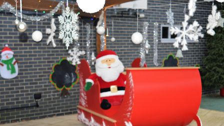 Suffolkl company Festool has made a Santa's sleigh for The Treehouse, children's hospice