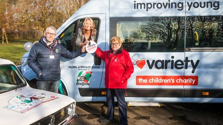 The Italian Job has funded a minibus, known as a Variety Sunshine Coach, for Hillside Special School