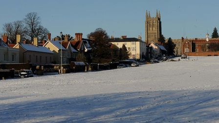 A week before Christmas 2009 in Long Melford. Picture: PHIL MORLEY