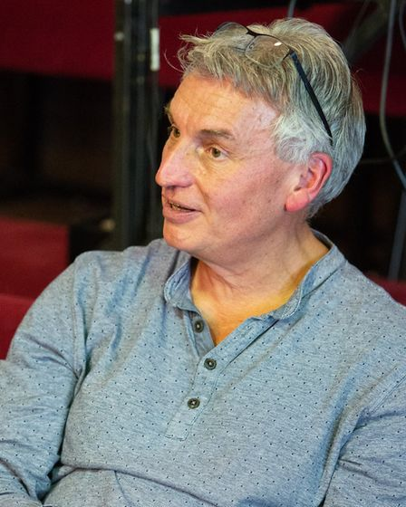 Director Peter Rowe in rehearsals for Cinderella, the New Wolsey's rock'n'roll panto for 2018. Photo