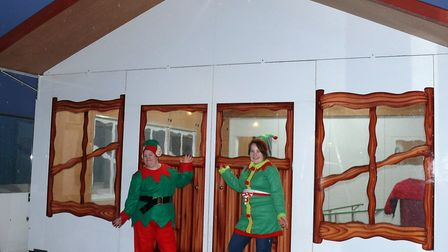 Elves Charlotte Hennessy and Jasmine Herrington-Doe are preparing for Santa to arrive Picture: CLACT