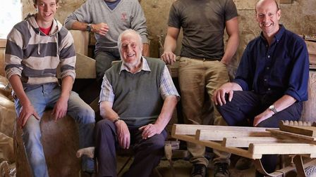 Three generations of the Minter family, of Bulmer Brick & Tile Co: from left, Joss, David, Peter, Ba