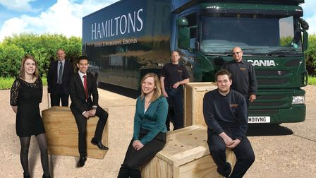 Some of the team at Hamiltons Removals. Picture: HAMILTONS REMOVALS