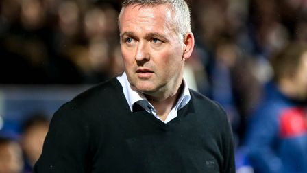 Town manager Paul Lambert pictured ahead of the match. Picture: STEVE WALLER WWW.STEPHENWALLE