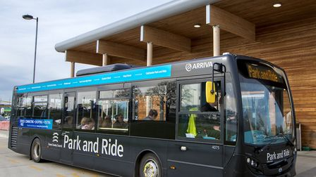 Colchester Park and Ride bus Picture: PAUL STARR