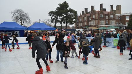 The Felixstowe Ice Rink is out and ready to entertain young and old alike Photo: Visit Felixstowe