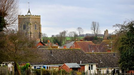 eadt gallery - photograph Tudor Morgan-Owen 31/12/11 GALLERY - Clare Church and the remains of C