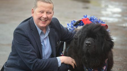 Bill Turnbull with recue dog Eddie Picture: SARAH LUCY BROWN