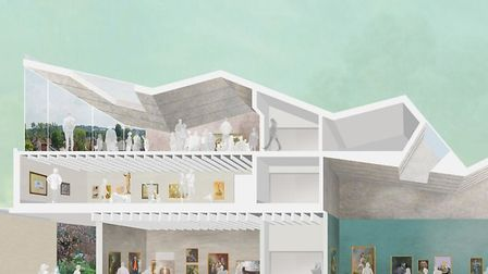 Thomas Gainsborough's house plans - inside gallery Picture: ZMMA