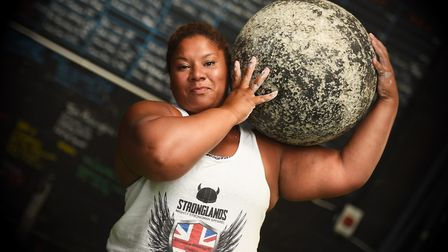 Mother-of-two Andrea Thompson, 36, from Melton, was crowned Britain's Strongest Woman. Picture: Greg