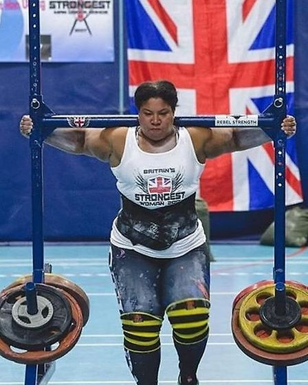 Mrs Thompson has recently broken the world record for the 300kg yoke carry