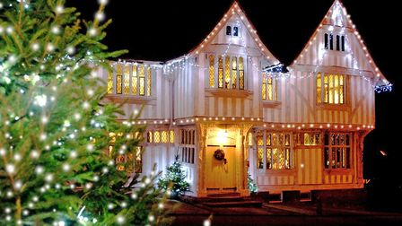 Lavenham Guildhall at Christmas. The village's Christmas fair will take place from Dec 7-9 Picture: