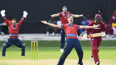 Matt Hunn, pictured appealing for a wicket while playing for Kent against the West Indies, says he w