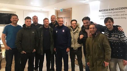 Paul Lambert invited a group of Ipswich Town fans to Playford Road. Picture: BLUE ACTION