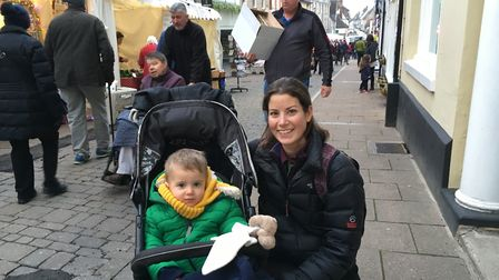 Maaike Taylor and her son Jesse in Hatter Street Picture: MARIAM GHAEMI