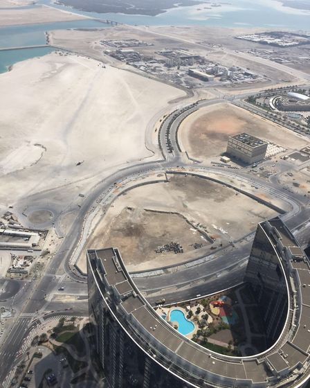 Abu Dhabi from the top of a skyscraper